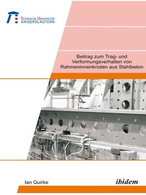 cover image of Beitrag zum Trag- und Verformungsverhalten von Rahmeninnenknoten aus Stahlbeton