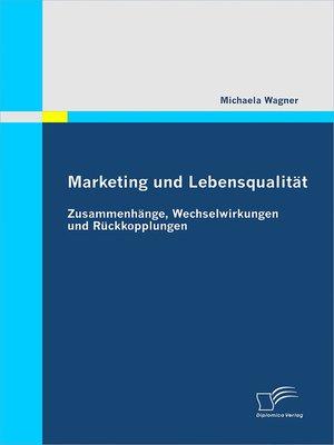 cover image of Marketing und Lebensqualität