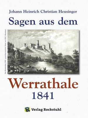 cover image of WERRATAL--Sagen aus dem Werrathale in Thüringen 1841