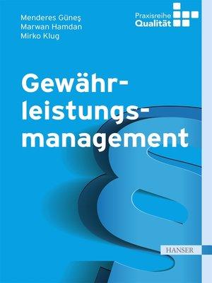cover image of Gewährleistungsmanagement