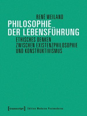 cover image of Philosophie der Lebensführung