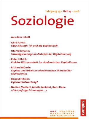 cover image of Soziologie 4.2016