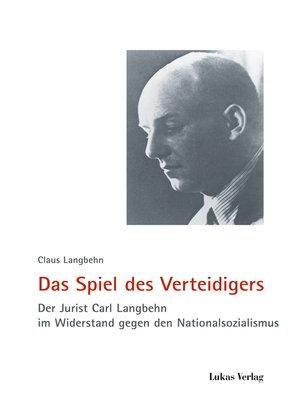 cover image of Das Spiel des Verteidigers