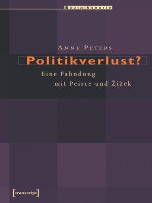 cover image of Politikverlust?