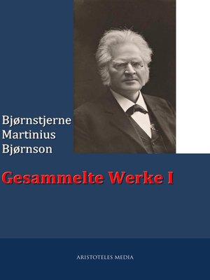 cover image of Gesammelte Werke I