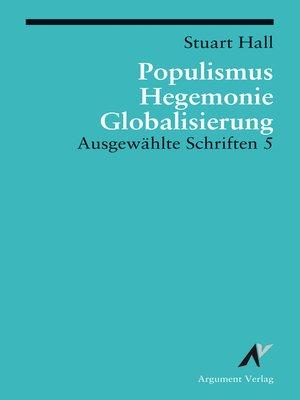 cover image of Populismus, Hegemonie, Globalisierung