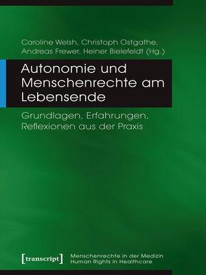 cover image of Autonomie und Menschenrechte am Lebensende