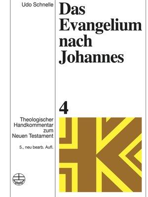 cover image of Das Evangelium nach Johannes