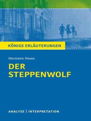 cover image of Der Steppenwolf. Königs Erläuterungen.
