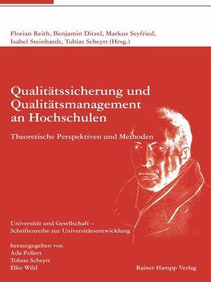 cover image of Qualitätssicherung und Qualitätsmanagement an Hochschulen