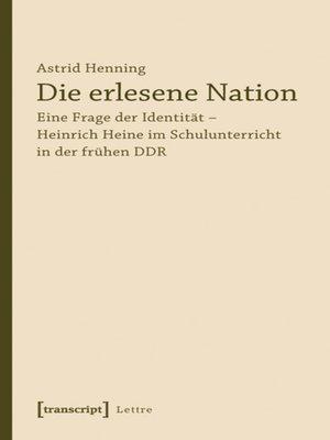 cover image of Die erlesene Nation