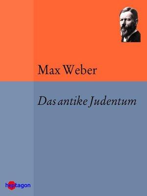 cover image of Das antike Judentum