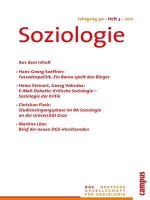 cover image of Soziologie 3.2011