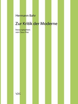 cover image of Zur Kritik der Moderne