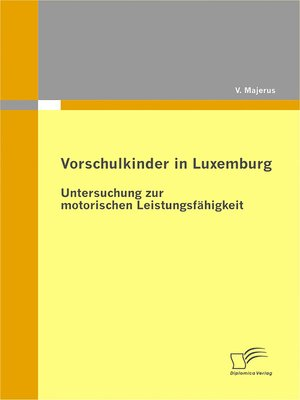 cover image of Vorschulkinder in Luxemburg