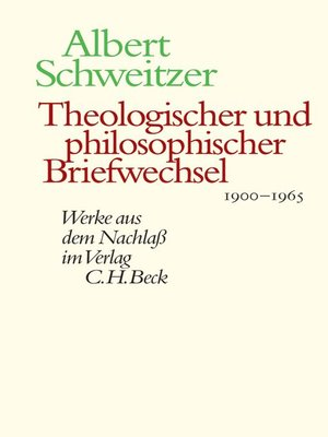 cover image of Theologischer und philosophischer Briefwechsel 1900-1965
