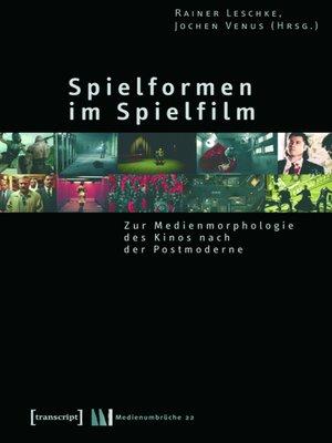 cover image of Spielformen im Spielfilm