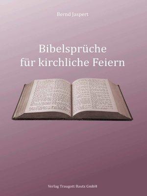 cover image of Bibelsprüche für kirchliche Feiern