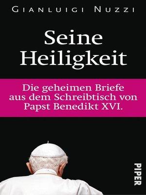 cover image of Seine Heiligkeit