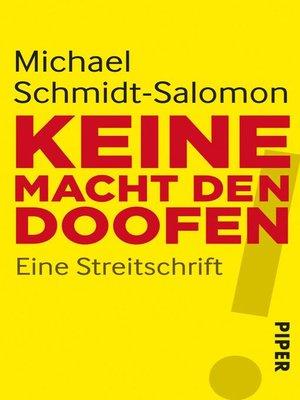 cover image of Keine Macht den Doofen