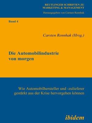 cover image of Die Automobilindustrie von morgen
