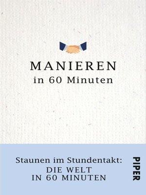 cover image of Manieren in 60 Minuten