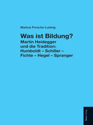 cover image of Was ist Bildung?