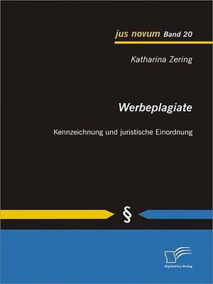 cover image of Werbeplagiate