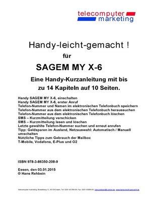 cover image of Sagem MY X-6-leicht-gemacht