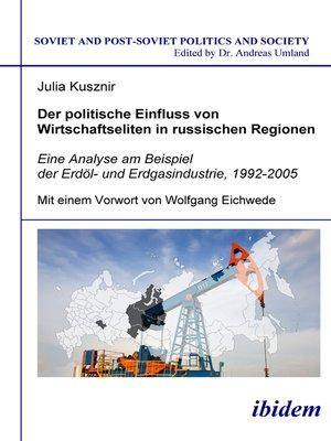 cover image of Der politische Einfluss von Wirtschaftseliten in russischen Regionen