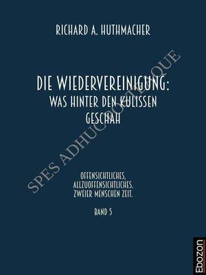 cover image of Die Wiedervereinigung