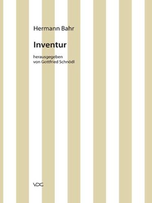 cover image of Inventur