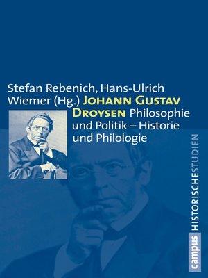 cover image of Johann Gustav Droysen