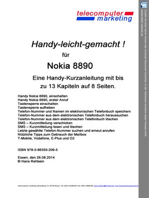 cover image of Nokia 8890-leicht-gemacht