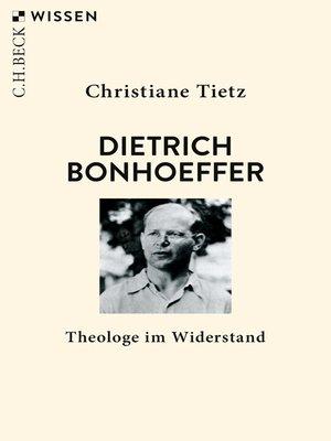 cover image of Dietrich Bonhoeffer