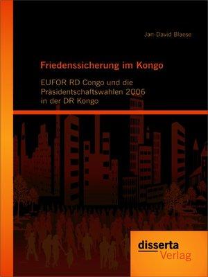 cover image of Friedenssicherung im Kongo