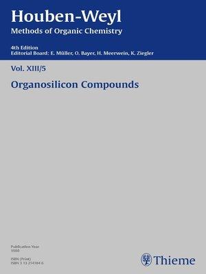 cover image of Houben-Weyl Methods of Organic Chemistry Volume XIII/5