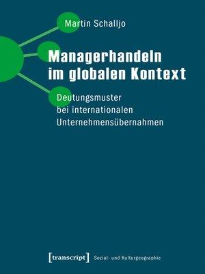 cover image of Managerhandeln im globalen Kontext