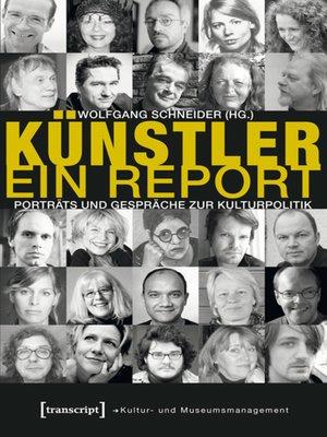 cover image of Künstler. Ein Report