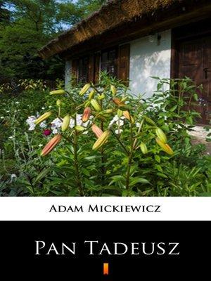 cover image of Pan Tadeusz