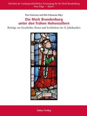 cover image of Die Mark Brandenburg unter den frühen Hohenzollern