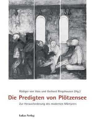 cover image of Die Predigten von Plötzensee