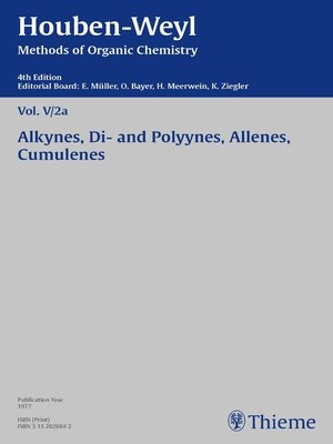 cover image of Houben-Weyl Methods of Organic Chemistry Volume V/2a