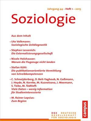 cover image of Soziologie 1.2015