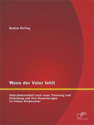 cover image of Wenn der Vater fehlt