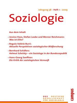 cover image of Soziologie 1.2009