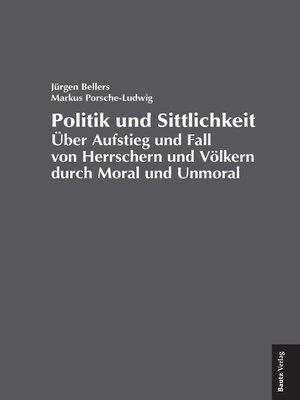 cover image of Politik und Sittlichkeit