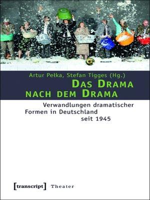 cover image of Das Drama nach dem Drama