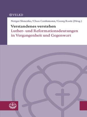 cover image of Verstandenes verstehen