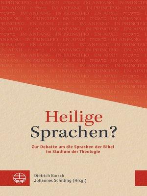 cover image of Heilige Sprachen?
